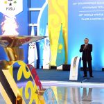Participation in the ceremony of lighting the fire of the 28th World Winter Universiade-2017