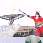 The Torch Relay Ceremony of 2017 Universiade took place in Almaty